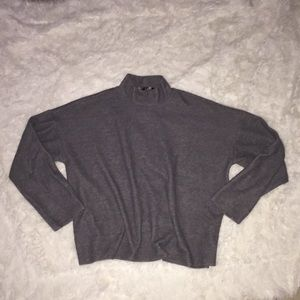 Light Grey Long Sleeve Turtleneck from Forever 21